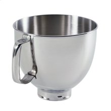 4.8 L Tilt-Head Polished Stainless Steel Bowl with Comfortable Handle - Other