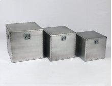 Emerald Home Ac212-sq-3pcset Naples Square Accent Table Set, Aluminum