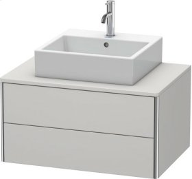 Vanity Unit For Console Wall-mounted, Nordic White Satin Matt Lacquer