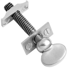"Chrome Plate Sash screw, 3 9/16"" / 5/16"" thread"