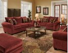 Masterpiece Burgundy Sofa and Loveseat Product Image