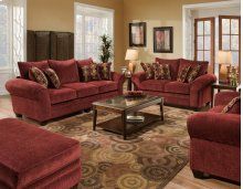 Masterpiece Burgundy Sofa and Loveseat