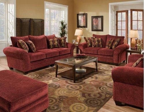 3700 Masterpiece Burgundy Sofa and Loveseat