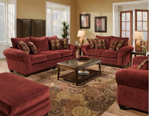 Masterpiece Burgundy Chair and 1/2