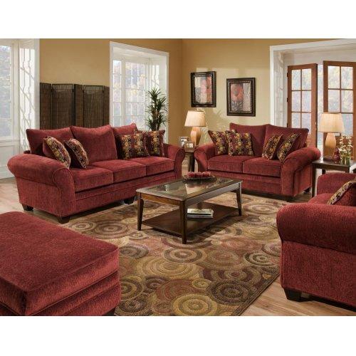 3700 Masterpiece Burgundy Sofa Only