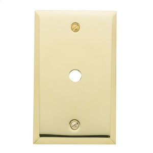 Polished Brass Beveled Edge Cable Cover Product Image