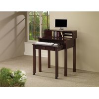 Transitional Cappuccino Writing Desk Product Image