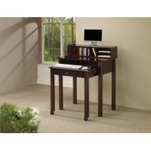 Transitional Cappuccino Writing Desk