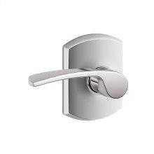 Merano lever with Greenwich trim Hall & Closet lock - Bright Chrome