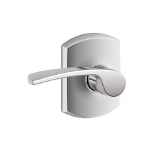 Merano lever with Greenwich trim Hall & Closet lock - Bright Chrome