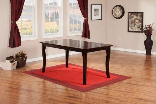 Venetian Dining Table 36x60 in Espresso