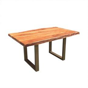 "Freeform 60"" Dining Table - Bronze Finish Legs"