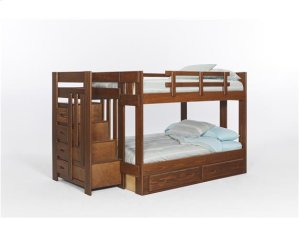 Heartland Staircase Bunk Bed with options: Chocolate