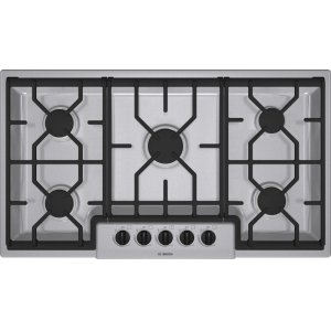 "Bosch36"" Gas Cooktop 300 Series - Stainless Steel NGM3654UC"