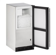 """15"""" Outdoor Crescent Ice Maker Stainless Solid Field Reversible"""