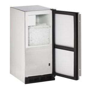 """U-Line15"""" Outdoor Crescent Ice Maker Stainless Solid Field Reversible"""