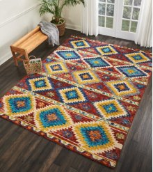Vibrant Vib02 Multicolor Rectangle Rug 4' X 6'