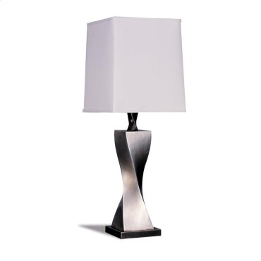 Accent Contemporary Antique Silver Table Lamp