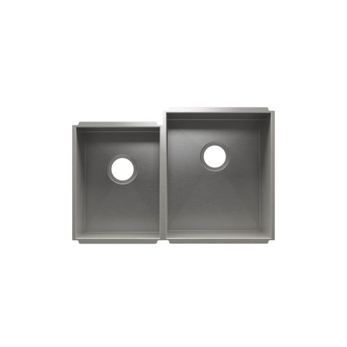 "UrbanEdge® 003651 - undermount stainless steel Kitchen sink , 12"" × 16"" × 8""  15"" × 18"" × 10"""