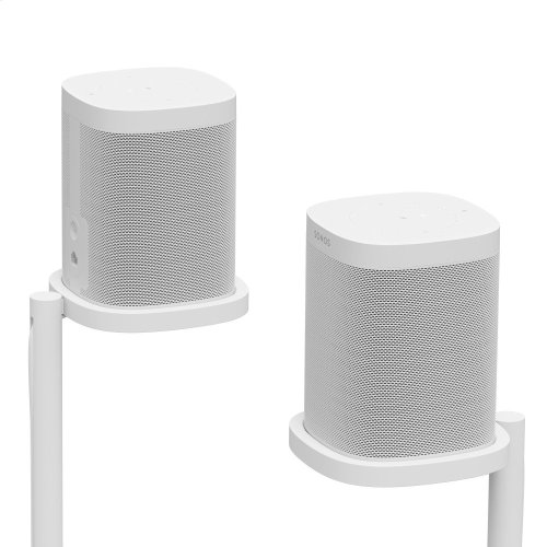 White- Place your Sonos One or Play:1 surrounds with this pair of custom-designed stands.