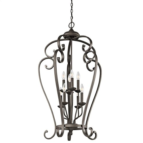 Monroe Collection Monroe 8 Light Cage Foyer Chandelier - OZ