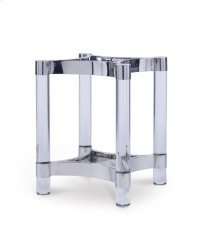 Acrylic & Metal Dining Table Base for Wood Tops
