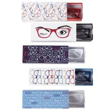 Colored Hipster Readers with Printed Slide Box (5 asstd).