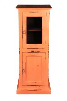 CC-CAB513TLD-CRRW  Cottage Glass Door Storage Cabinet  Coral Reef