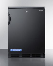 Commercially Listed Freestanding All-refrigerator for General Purpose Use, With Front Lock, Automatic Defrost Operation and Black Exterior