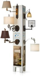 Wall Lamp Merchandising Display Product Image