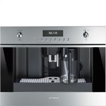 60 Cm (Approx. 24''), Fully-Automatic Coffee Machine With Milk Frother Stainless Steel