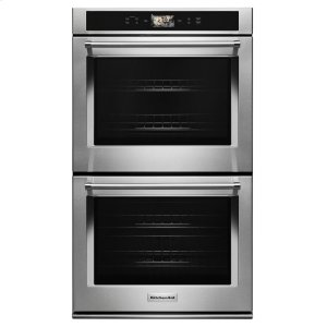 "KitchenaidSmart Oven+ 30"" Double Oven with Powered Attachments - Stainless Steel"