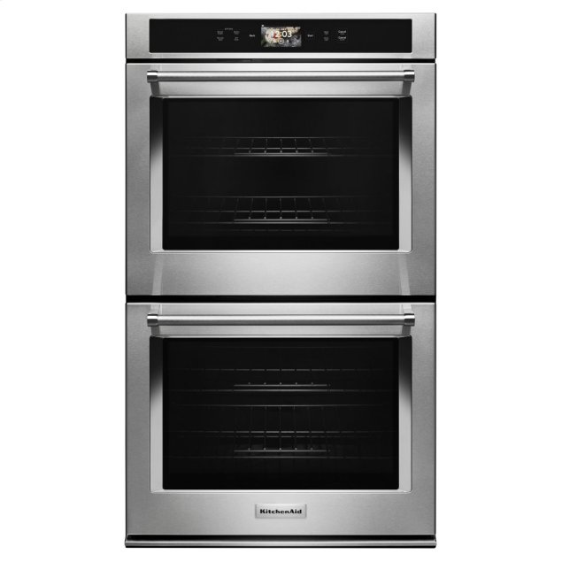 """KitchenAid Smart Oven+ 30"""" Double Oven with Powered Attachments - Stainless Steel"""