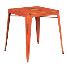 Bristow Antique Metal Table In Antique Orange (kd)