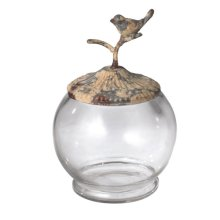 Small Distressed Bird Container
