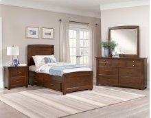 Panel Storage Bed (available in 3/3 or 4/6)