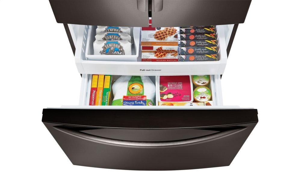 French Door Counter-Depth Refrigerator  sc 1 st  Dave\u0027s Appliance Inc. & LFC21776D in Black Stainless Steel by LG in Brookfield MA - 21 cu ...