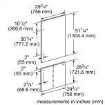 "Thermador30"" Stainless Steel Panel Set for Bottom-Freezer - Flat TFL30IB800"