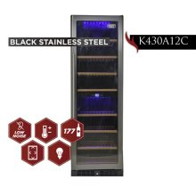KUCHT 177-Bottle Dual Zone Wine Cooler Built-in with Compressor in Stainless Steel