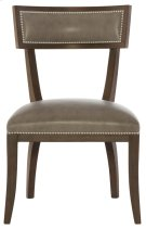 Delancey Leather Dining Side Chair in Cocoa Product Image