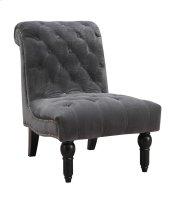 Emerald Home Hutton II Accent Chair Armless Nailhead Thunder Bella U3164-15-13