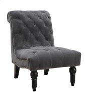 Emerald Home Hutton II Accent Chair Armless Nailhead Thunder Bella U3164-15-13