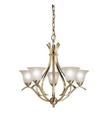 Dover Collection Dover 5 Light Chandelier - Antique Brass