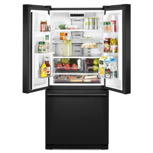 Maytag® 30-Inch Wide French Door Refrigerator - 20 Cu. Ft. - Black