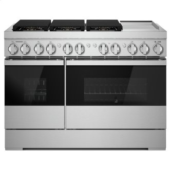 "NOIR(TM) 48"" Dual-Fuel Professional Range with Chrome-Infused Griddle, NOIR"