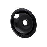 FrigidaireSmart Choice 8'' Black Porcelain Drip Bowl, Fits Most