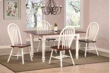 Sunset Trading 5pc Butterfly Dining Set with Arrowback Chairs - Sunset Trading