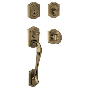 Satin Brass and Black Bethpage Sectional Trim