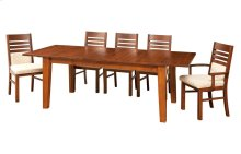 """42/72-1-20"""" 5/4 Thick Floating Top Large Tapered Leg Table"""