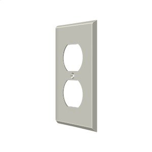 Switch Plate, Double Outlet - Brushed Nickel